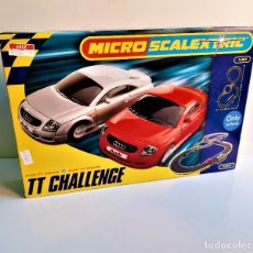 Slot Cars: MICRO SCALEXTRIC AUDIS TT COUPE CHALLENGE. Lote 191518313
