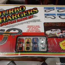 Slot Cars: TURBO CHARGERS SPORTCAR RACING SET. Lote 192617237
