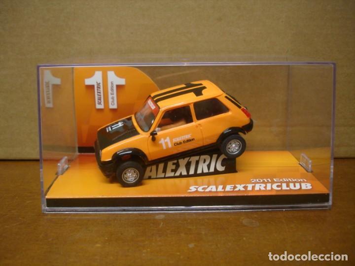 SCALEXTRIC RENAULT 5 CLUB SCALEXTRIC 2011 NUEVO CON SU CAJA ORIGINAL (Juguetes - Slot Cars - Magic Cars y Otros)