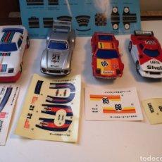 Slot Cars: 4X SLOT CAR ATIN, MASERATI, PORSCHE 935, LANCIA Y PORSCHE 924 MÁS PEGATINAS. Lote 194401588