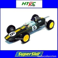 Slot Cars: SUPERSLOT LEGENDS LOTUS 25 #8 JIM CLARK GP MONZA 1963 SCALEXTRIC UK H4068A. Lote 194556178