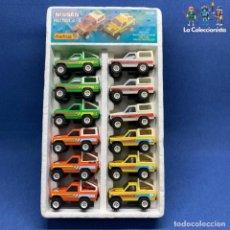 Slot Cars: EXTRAORDINARIA CAJA DE OBERTOYS - NISSAN PATROL - REF. 90 - 12 COCHES MISMA ESCALA DE STS SCALEXTRIC. Lote 194761392