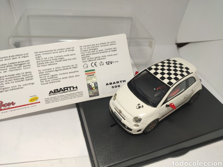 RACER SLOT CARS FIAT ABARTH 500 SILVER LINE (Juguetes - Slot Cars - Magic Cars y Otros)