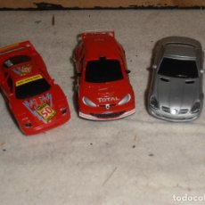 Slot Cars: 3 - COCHES SCALEXTRIC CARRERA GO. Lote 194881677