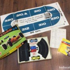 Slot Cars: PISTA DE CARRERAS RECORD 64 - INCLUYE CAJA E INSTRUCCIONES - JOVEF REF. 394 - FABRICADO EN ESPAÑA. Lote 195305493