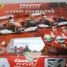 Slot Cars: CIRCUITO CARRERA GO FERRARI CHAMPIONS COMPLETO. Lote 195324753