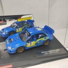 Slot Cars: CARRERA EVOLUTION SUBARU IMPREZA WRC RALLY CATALUNYA 2003 REF. 25733. Lote 195389872
