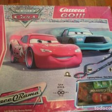 Slot Cars: CARRERA GO CARS RACE O RAMA DE DISNEY COCHES SLOT CAR SET ESCALA 1: 43 REF 62122. Lote 195436365