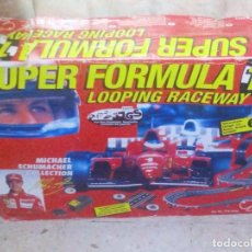 Slot Cars: VENDO SUPER FORMULA 1 LOOPING RACEWAY, MICHAEL SCHUMACHER COLLECTION. (VER MAS FOTOS).. Lote 196318995