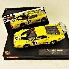 Slot Cars: SLOT CARRERA EVOLUTION FERRARI 512 BB LM BEURLYS. Lote 197359713
