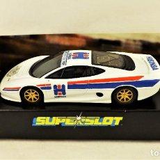 Slot Cars: SUPERSLOT HORNBY JAGUAR XJ 220 HISINSA 30º ANIVERSARIO ED. LIMITADA. Lote 223883280
