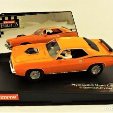 Slot Cars: SLOT CARRERA EVOLUTION PLYMOUTH HEMI CUDA 1970. Lote 197526766