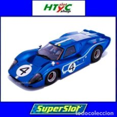 Slot Cars: SUPERSLOT FORD GT MKIV #4 24 HS LE MANS 1967 HULME / RUBY SCALEXTRIC H4031. Lote 141845422
