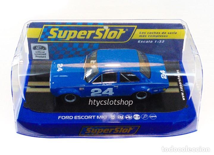 Slot Cars: SUPERSLOT FORD ESCORT MKI #24 DAYTONA 1972 JOHN FITZPATRICK SCALEXTRIC H4085 - Foto 12 - 175453464