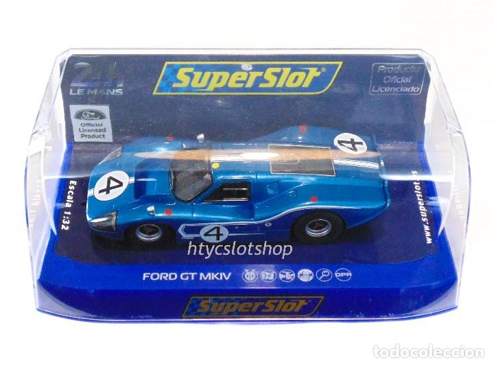 Slot Cars: SUPERSLOT FORD GT MKIV #4 24 HS LE MANS 1967 HULME / RUBY SCALEXTRIC H4031 - Foto 12 - 141845422