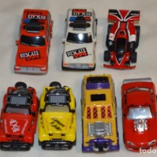 Slot Cars: SLOT DEL TIPO, AURORA - FAMOSA - MATTEL - TYCO, ORIGINALES / ANTIGUOS / FUNCIONANDO ¡MIRA! LOTE 01. Lote 198746576