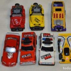 Slot Cars: SLOT DEL TIPO, AURORA - FAMOSA - MATTEL - TYCO, ORIGINALES / ANTIGUOS / FUNCIONANDO ¡MIRA! LOTE 02. Lote 198749201