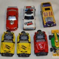 Slot Cars: SLOT DEL TIPO, AURORA - FAMOSA - MATTEL - TYCO, ORIGINALES / ANTIGUOS / FUNCIONANDO ¡MIRA! LOTE 03. Lote 198751635
