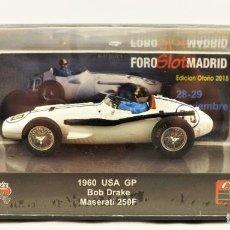 Slot Cars: SLOT CARTRIX MASERATI 250 F BOB DRAKE GP USA EDICIÓN ESPECIAL 400 UNIDADES. Lote 198816587