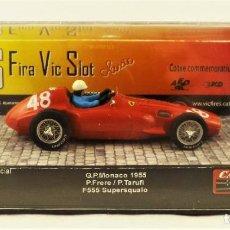 Slot Cars: SLOT CARTRIX FERRARI 555 SUPERESQUALO GP MÓNACO 1955 ED. LIMITADA 200 UDS. 6ª FIRA VIC SLOT. Lote 198825895
