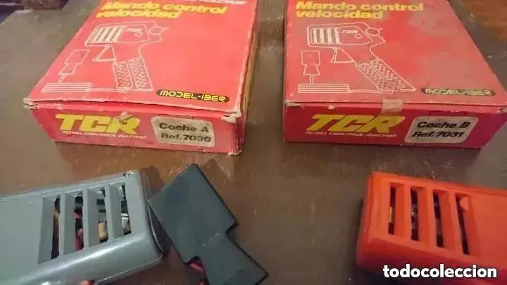 Slot Cars: OCASION UNICA DOS MANDOS EN SUS CAJAS 1980 COCHE A Y COCHE B REF. 7030 Y 7031 SCALEXTRIC TCR - Foto 2 - 241893680