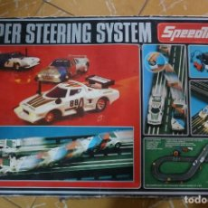 Slot Cars: SLOT - SPEEDTRAX SSS (SUPER STEERING SYSTEM) BS-8. COMPLETO CON 2 COCHES: LANCIA STRATOS +`BMW M1. Lote 200281593