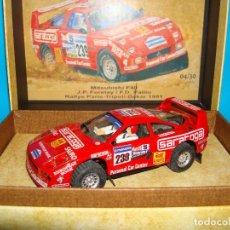 Slot Cars: DAKAR LEGENDS MITSUBISHI F40 RALLYE PARIS DAKAR SCALEXTRIC RESINA SLOT CAR 1:32 RARO RTR 04/30. Lote 200596748