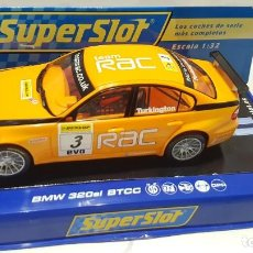 Slot Cars: SCALEXTRIC SUPERSLOT H2909 BMW 320SI BTCC Nº3 TEAM RAC TURKINGTON. Lote 200795706