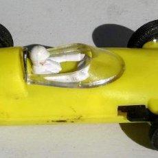 Slot Cars: ANTIGUO BRM FORMULA I DE JOUEF - FABRICADO EN ESPAÑA - LE FALTA UNA RUEDA - TIPO SCALEXTRIC - AÑOS 7. Lote 204636536
