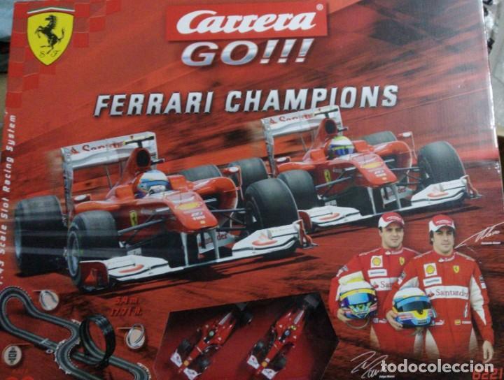 CIRCUITO CARRERA GO. FERRARI CHAMPIONS NUEVO (Juguetes - Slot Cars - Magic Cars y Otros)