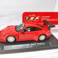 Slot Cars: NSR PORSCHE 997 RALLY TEST CAR RED SLOT REF. 1063. Lote 206815581