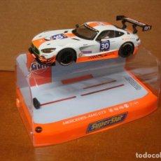 Slot Cars: SUPERSLOT MERCEDES AMG GT3 GULF REF H3853 NUEVO CON SU CAJA ORIGINAL. Lote 207089502