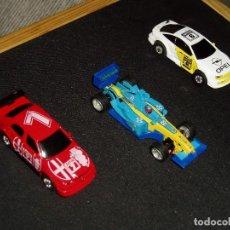 Slot Cars: 3 COCHES DE PISTA ELÉCTRICOS. Lote 207784605