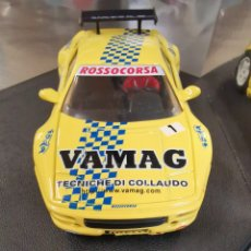 Slot Cars: COCHE SCALEXTRIC DE PRO SLOT FERRARI ROSSO CORSA Nº1 AMARILLO. ESLOVENIA. SLOVENIJA. Lote 209783966