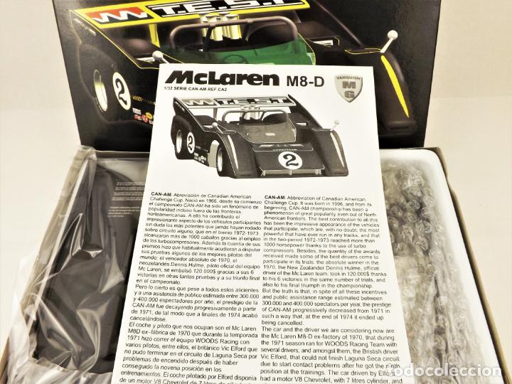 Slot Cars: Slot MG Vanquish Kit montaje de McLaren M8-D Viv Elford - Foto 2 - 209814690