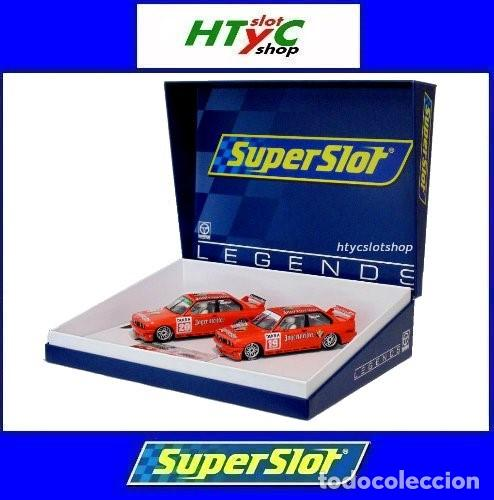 SUPERSLOT BMW M3 E30 DTM JAGERMEISTER TWIN PACK TEAM LINDER SCALEXTRIC H4110A (Juguetes - Slot Cars - Magic Cars y Otros)