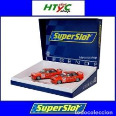 Slot Cars: SUPERSLOT BMW M3 E30 DTM JAGERMEISTER TWIN PACK TEAM LINDER SCALEXTRIC H4110A. Lote 209710112