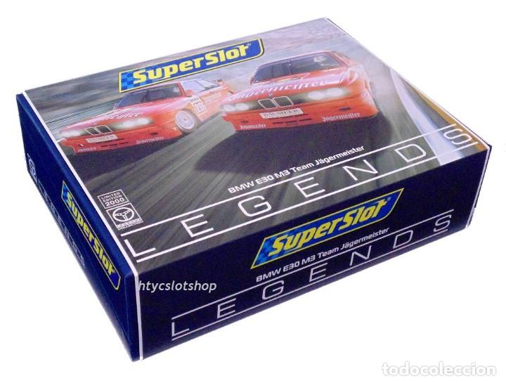 Slot Cars: SUPERSLOT BMW M3 E30 DTM JAGERMEISTER TWIN PACK TEAM LINDER SCALEXTRIC H4110A - Foto 14 - 209710112