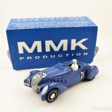 Slot Cars: MMK SLOT PEUGEOT DARL'MART LE MANS DE 1938. Lote 210218420