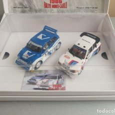 Slot Cars: ROVER 6R4 Y PEUGEOT T16 - SERIE MILITADA A 2000 UNIDADES. Lote 210426343