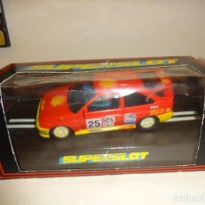 Slot Cars: SUPERSLOT. HORNBY. FORD ESCORT SHELL HELIX. REF. H324. Lote 211529751