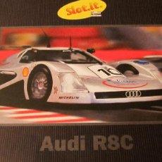 Slot Cars: SLOT.IT: CATALOGO EXPLICATIVO DEL AUDI R8C. DIPTICO. Lote 211751432