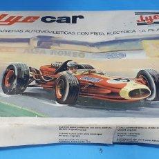 Slot Cars: JYE CAR - JYESA , CARRERAS AUTOMOVILÍSTICAS CON PISTA ELÉCTRICA. Lote 213049951