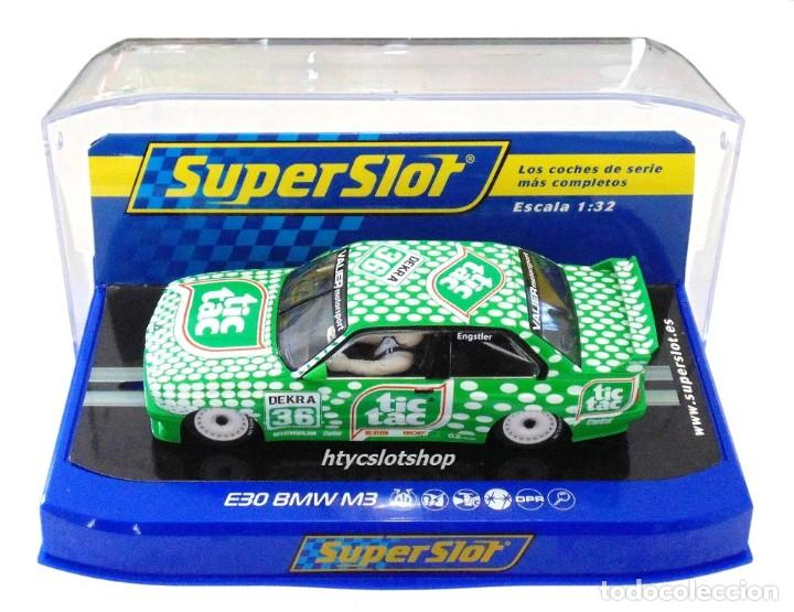 Slot Cars: SUPERSLOT BMW E30 M3 #36 TIC TAC FRANZ ENGSTLER DTM 1992 SCALEXTRIC UK H3865 - Foto 12 - 213167492