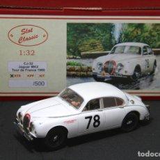 Slot Cars: JAGUAR MKII TOUR DE FRANCE SLOT CLASSIC CJ-32 RTR. Lote 213328717