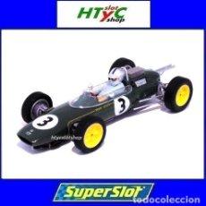 Slot Cars: SUPERSLOT LOTUS 25 #3 JACK BRABHAM GP MONACO 1963 SCALEXTRIC UK H4083. Lote 213422433