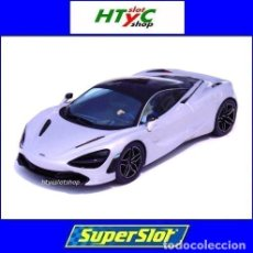 Slot Cars: SUPERSLOT MCLAREN 720S GLACIAR WHITE SCALEXTRIC UK H398. Lote 213436325