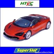 Slot Cars: SUPERSLOT MCLAREN 720S AZORES ORANGE SCALEXTRIC UK H3895. Lote 213436391