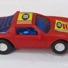 Slot Cars: COCHE DE PISTA RACING TURBO, TIPO ESCALEXTRIC, COLOR ROJO. Lote 213675013