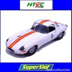 Slot Cars: SUPERSLOT JAGUAR E-TYPE #9 BATHURST 1965 BOB JANE SCALEXTRIC UK H3890. Lote 213172643